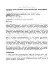 UN Environment Programme Summer Research Assistant Positions