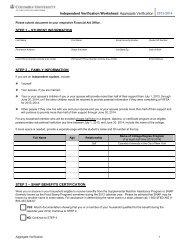 Aggregate Verification - Columbia University