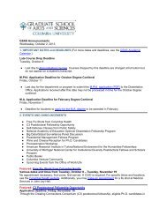 October 2, 2013 - Graduate School of Arts and Sciences - Columbia ...