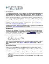 Spring 2013 Registration - Master's Students - Graduate School of ...