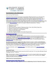 Fall 2013 Registration, ID Cards, GSAC Events, Students with