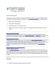 New GSAS Student Blog, Fulfill Immunization Requirements, Submit ...