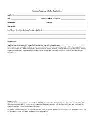 1 Summer Teaching Scholar Application