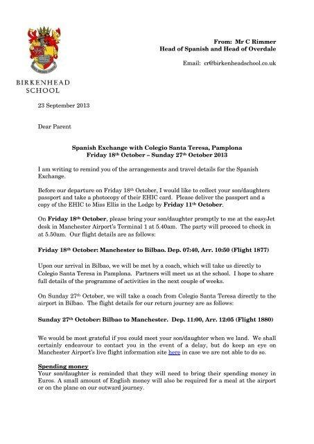 final letter birkenhead school