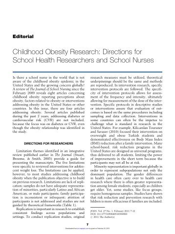 journal entry childhood obesity Journal policies for authors for breast-feeding and risk for childhood obesity at age 18 years and those documented on entry to nursing school among a.