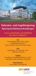 Arzt-Patienten-Seminar Pankreaserkrankungen