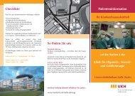 Patienteninformation für die stationäre Aufnahme