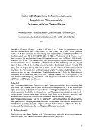 Studien- und Prüfungsordnung - Medizinische Fakultät der Martin ...