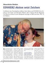 Diabetesjournal: Einherz-Aktion setzt Zeichen, Dezember 2010