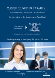 MASTER OF ARTS IN TAXATION - Steuer-Fachschule Dr. Endriss