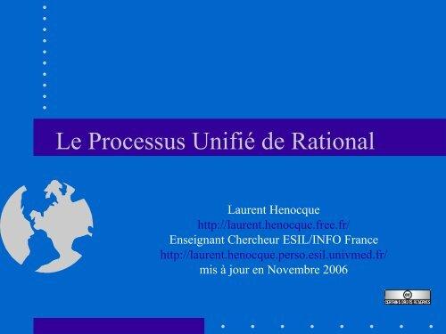 Le Processus Unifié De Rational - Laurent Henocque