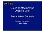 Présentation Cours de Modélisation Orientée Objet Esil Info ...