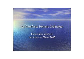 Interfaces Homme Machine Henocque Esil 2007 - Laurent Henocque