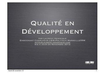 Qualité Developpement Henocque Esil Info.key - Laurent Henocque