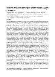 Efficacité de la distribution d'une collation fortifiée pour ... - Nutridev