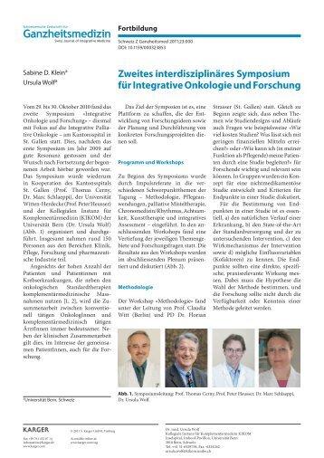 Ganzheitsmedizin - Symposium Integrative Onkologie