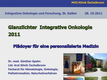 Spahn Günther Highlights 2011 - Symposium Integrative Onkologie