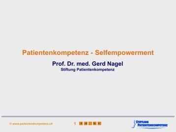 Nagel G. Patientenkompetenz - Symposium Integrative Onkologie