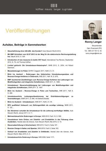 Veröffentlichungen - KMLZ