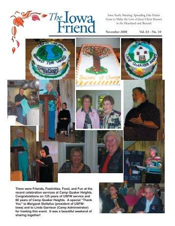Nov - Iowa Yearly Meeting of Friends