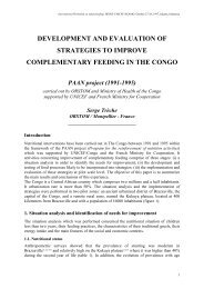 development and evaluation of strategies to improve ... - Nutridev