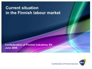 Current situation on the Finnish labour market