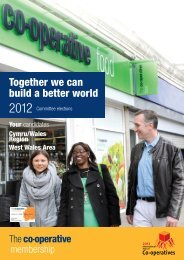 Together we can build a better world - The Co-operative