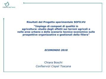 Risultati del Progetto sperimentale SOFILVU - Consorzio Italiano ...