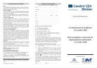 Corsi di formazione La valutazione di incidenza 5-6 ottobre 2004 ...