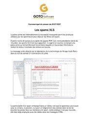 Les spams XLS_GOTO Software - Vade Retro Technology
