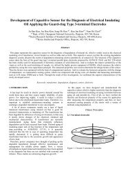 Development of Capacitive Sensor for the Diagnosis of Electrical ...