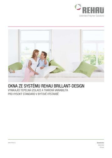 Prospekt okna ze systému REHAU Brillant Design