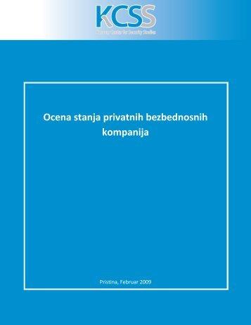 Ocena stanja privatnih bezbednosnih kompanija - QKSS