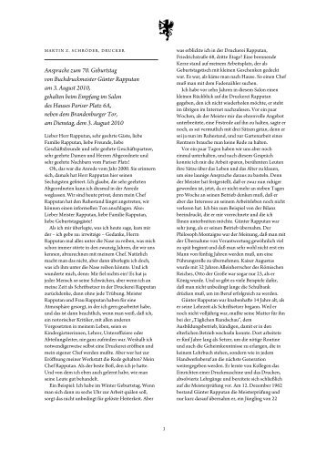 Schön Ansprache Zum 70. Geburtstag Von Buchdruckmeister ...   Druckerey
