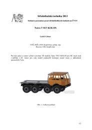 Středoškolská technika 2013 Tatra T 813 KOLOS