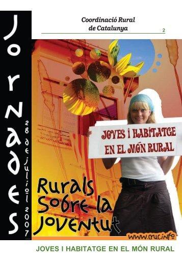Coordinació Rural de Catalunya JOVES I HABITATGE EN EL MÓN ...