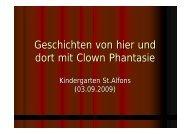 Geschichten von hier und dort mit Clown Phantasie