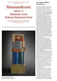 Museumkrant 2013/2 - Museum voor Schone Kunsten Gent