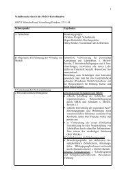 Protokoll zum Interview - Homepage des OSZ II Potsdam