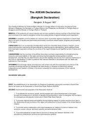 The ASEAN Declaration - International Democracy Watch
