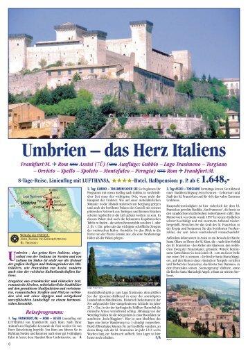Umbrien – das Herz Italiens - Sputnik Travel GmbH