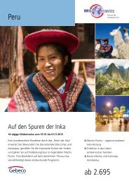 Peru ab 2.695 - BRS Gruppen Reiseservice