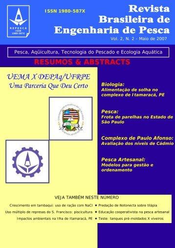 UEMA X DEPAq/UFRPE - Engenharia de Pesca