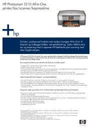 HP Photosmart 3310 All-in-One printer/fax ... - FLC Danmark Aps