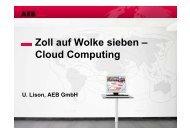 Zoll auf Wolke sieben – Cloud Computing