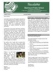 Newsletter - 5th September 2013 (pdf 1 MB) - Blairmount Public ...
