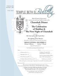 Nov Bulletin 09.indd - Temple Beth El