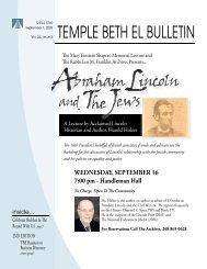 Sept Bulletin 09.indd - Temple Beth El
