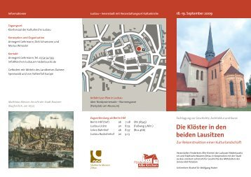 Die Klöster in den beiden Lausitzen - Förderkreis Alte Kirchen der ...