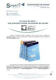Communiqué de presse Le Livre du Zéro : une première année ...